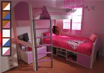 Stompa Casa 11 L shaped bunk bed with tv stand and storage