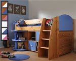 Stompa Rondo 2 mid sleeper bed with desk and storage
