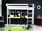 Thuka Trendy 33 high sleeper bed with large desk