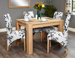 Baumhaus Aston Oak 4 Seater Table and Chair Set 1
