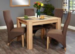 Baumhaus Aston Oak 4 Seater Table and Chair Set 2