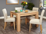 Baumhaus Aston Oak 4 Seater Table and Chair Set 3