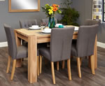 Baumhaus Aston Oak 6 Seater Table and Chair Set 4