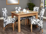 Baumhaus Mobel Oak 4 Seater Table and Chair Set 1