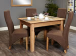 Baumhaus Mobel Oak 4 Seater Table and Chair Set 2