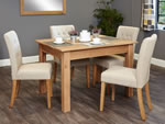 Baumhaus Mobel Oak 4 Seater Table and Chair Set 3