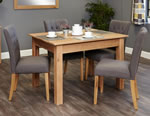 Baumhaus Mobel Oak 4 Seater Table and Chair Set 4