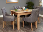 Baumhaus Mobel Oak 4 Seater Table and Chair Set 5