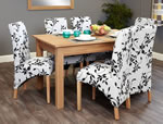 Baumhaus Mobel Oak 6 Seater Table and Chair Set 1