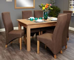 Baumhaus Mobel Oak 6 Seater Table and Chair Set 2