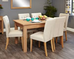 Baumhaus Mobel Oak 6 Seater Table and Chair Set 3