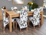 Baumhaus Mobel Oak Extending 8 Seater Table and Chair Set 1