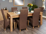 Baumhaus Mobel Oak Extending 8 Seater Table and Chair Set 2