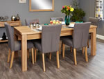 Baumhaus Mobel Oak Extending 8 Seater Table and Chair Set 4