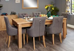 Baumhaus Mobel Oak Extending 8 Seater Table and Chair Set 5