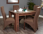 Baumhaus Shiro Walnut 4 Seater Table and Chair Set 1