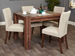 Baumhaus Shiro Walnut 4 Seater Table and Chair Set 2