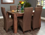 Baumhaus Shiro Walnut 6 Seater Table and Chair Set 1