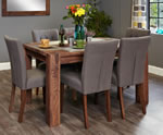 Baumhaus Shiro Walnut 6 Seater Table and Chair Set 3