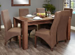 Baumhaus Shiro Walnut 8 Seater Table and Chair Set 1