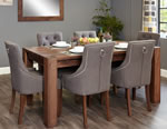 Baumhaus Shiro Walnut 8 Seater Table and Chair Set 4