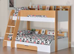Flick Triple Bunk Bed Maple by Flair Furnishings