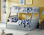 Flair Furnishings Ollie Grey Triple Sleeper Bed