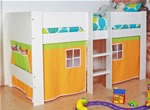 Flexa Zyan white mid sleeper bed with play tent