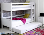 Flexa Nordic Bunk bed 3 Flat White Gable Ends