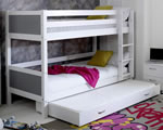 Flexa Nordic Bunk bed 3 Grey Gable Ends