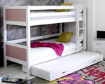 Flexa Nordic Bunk bed 3 Rose Gable Ends