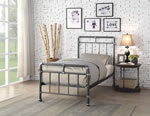 Flintshire Furniture Cilcain Black Silver Metal Bed Frame