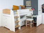 Kids Avenue Urban Birch Mid Sleeper Bed 1