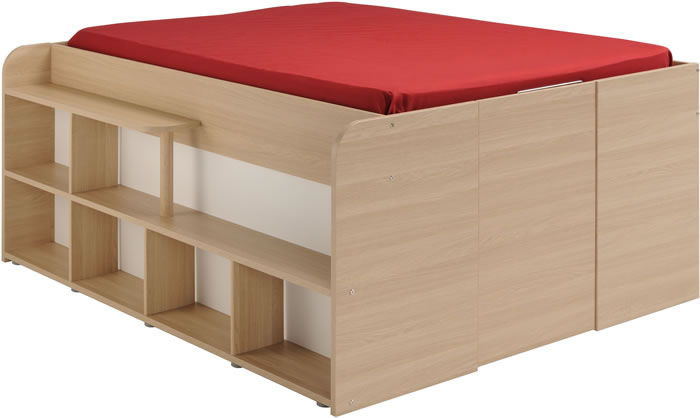 Kids Avenue Space Up Double Cabin Bed With Storage The
