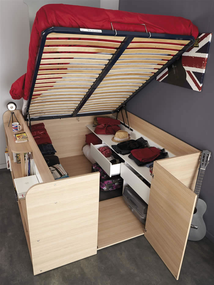 Kids Avenue Space Up double cabin bed with storage | The ...