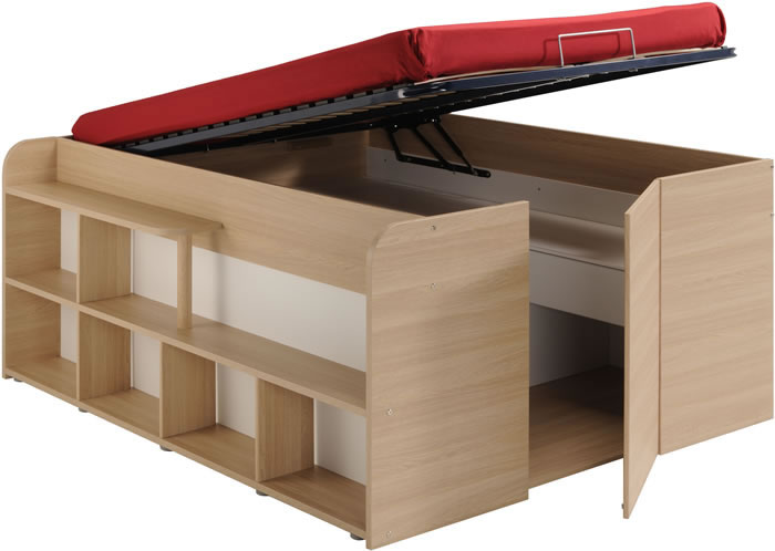 parisot space up double cabin bed with storage kids avenue