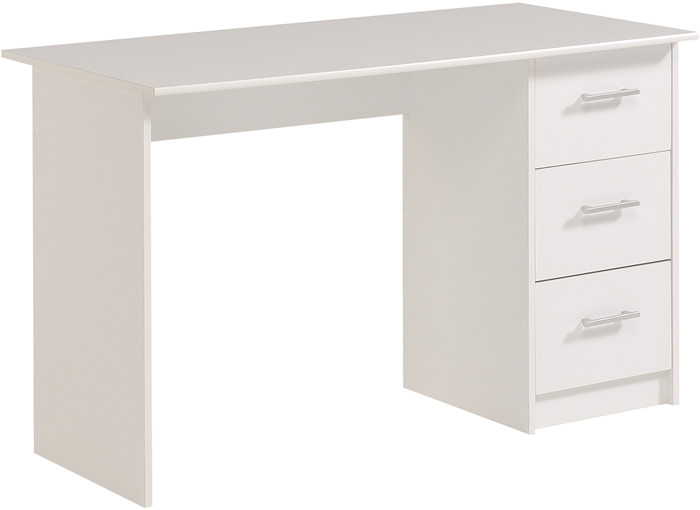 Kids Avenue Infinity white computer desk - 3 Drawers - Parisot