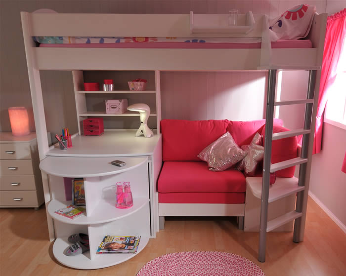 Loft Bed Stompa Casa 4 High Sleeper Bed With Pull Out