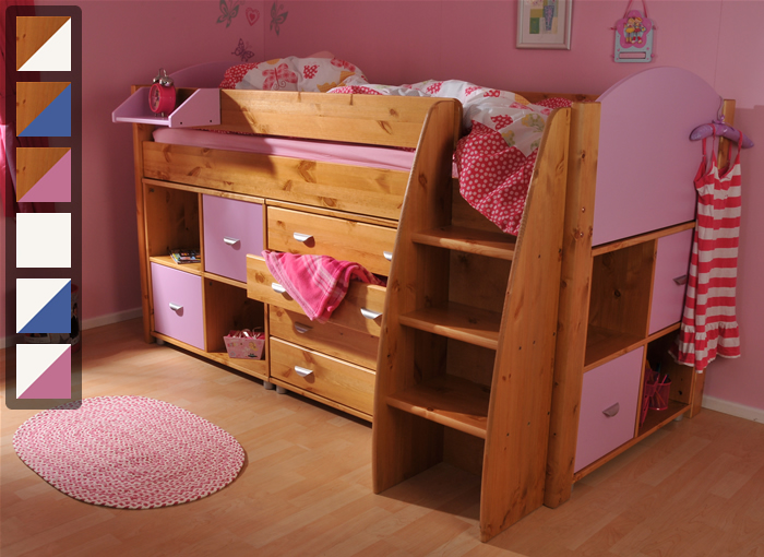 Stompa Rondo 3 mid sleeper cabin bed with storage drawers ...