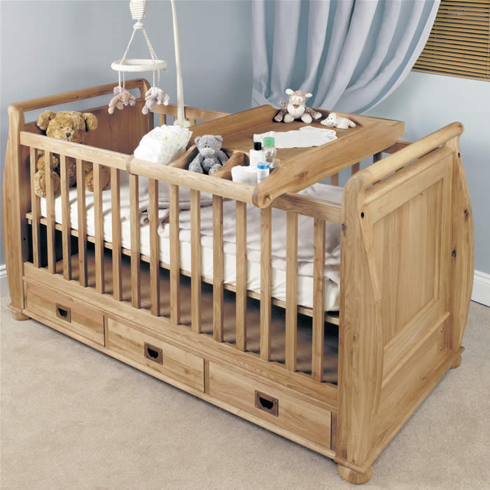 Baby Cots Uk Baumhaus amelie oak cot top baby changer unit sisterspd