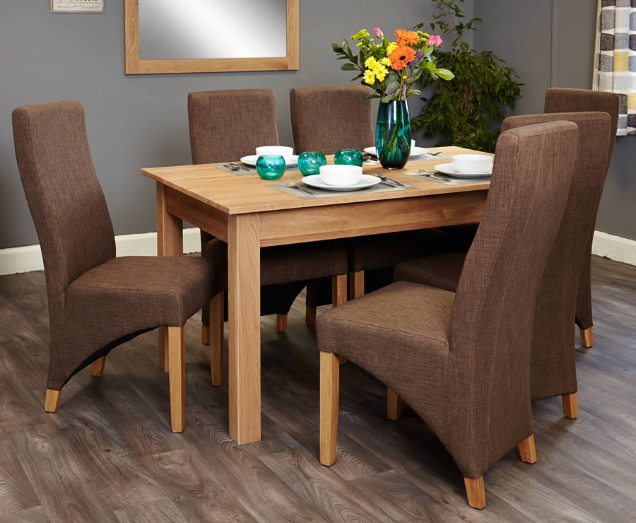 baumhaus mobel oak 6 seater table and chair set 2 baumhaus mobel solid oak fully