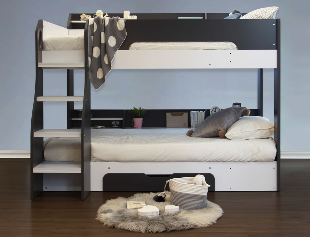 Flick Bunk Bed Grey Flair Furnishings The Home And Office Stores