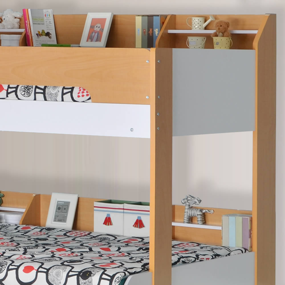 Flick Triple Bunk Bed Maple By Flair Furnishings The Home And