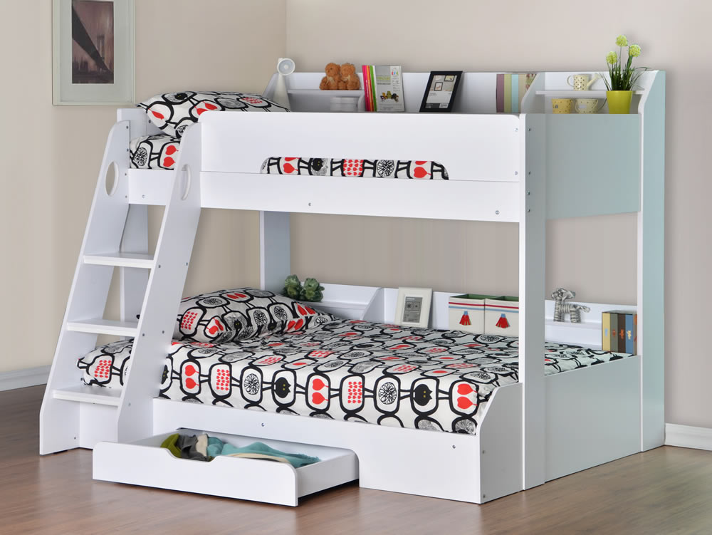 Flair Furnishings Flick Triple Bunk Bed White H O Stores