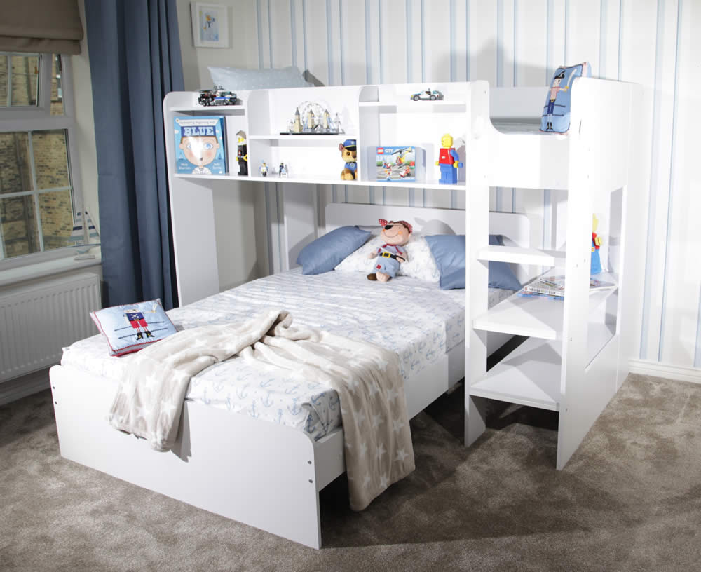 Wizard L Shaped Triple Bunk Bed By Flair Furnishings The Home And