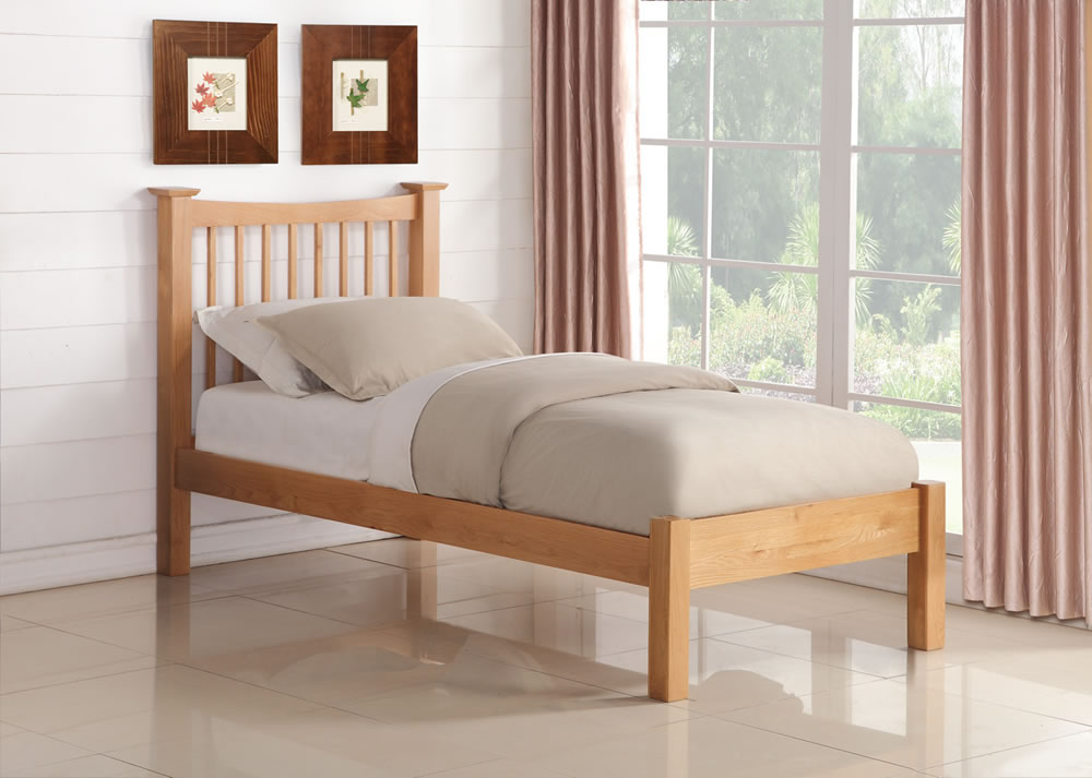 Aston Solid American Oak Bed Frame