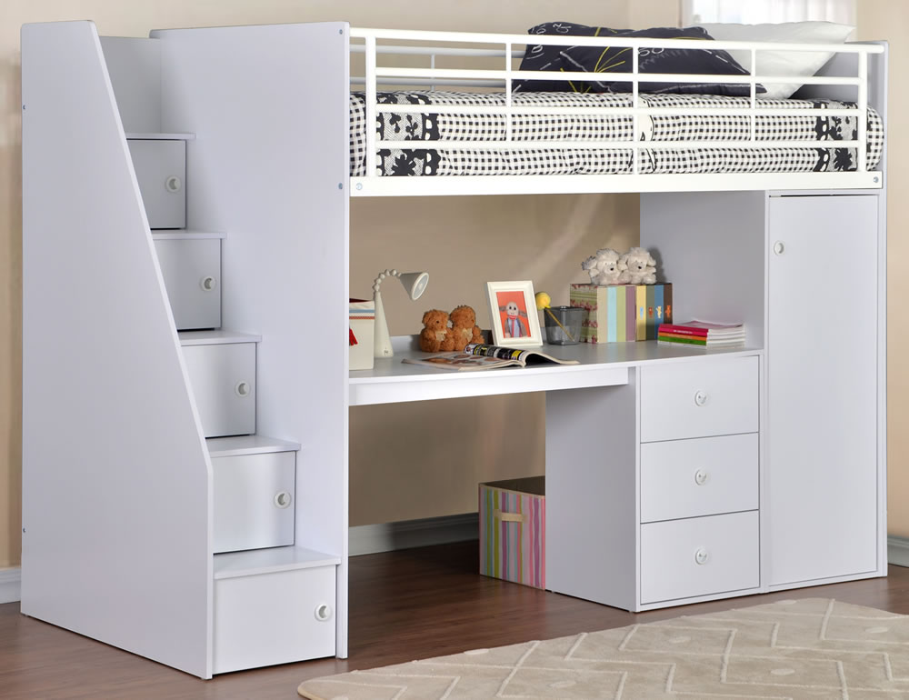 High Sleeper Beds With Storage Dakota High Sleeper Bed