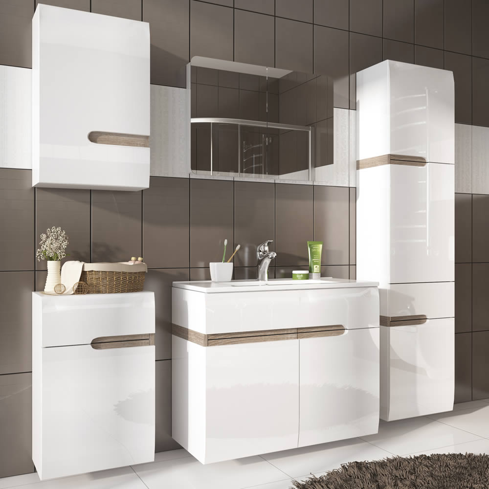 Ftg Chelsea Bathroom Tall 1 Drawer 2 Door Cabinet Lh