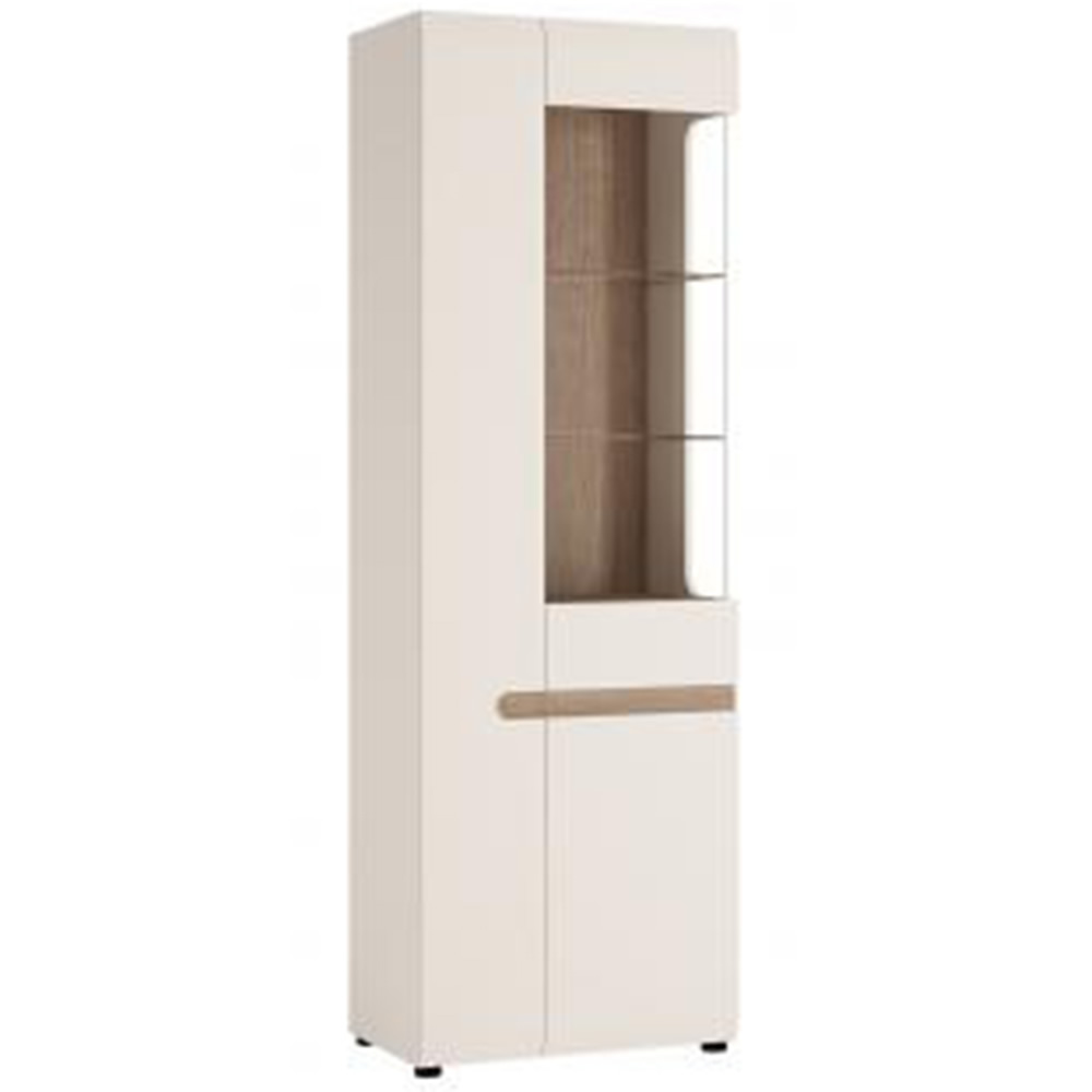 Ftg chelsea tall glazed narrow display cabinet lh for Cupboard or cabinet