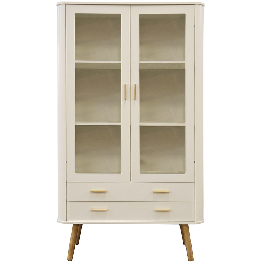 Ftg Scandinavian Style Display Cabinet White Oak